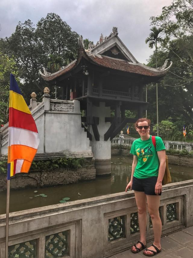 near the temple